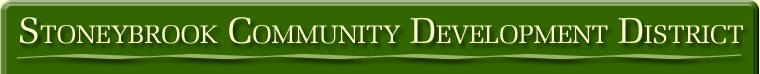 Stoneybrook Community Development District Header